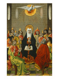 Pentecost, Paint on Wood, C. 1450 Giclee Print by  Master of Budapest