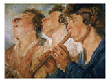 Three Wandering Musicians Giclee Print by Jacob Jordaens