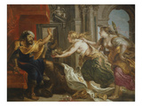 Tereus Confronted with the Head of His Son Itylus, the Feast of Tereus, 17th Century Giclee Print by Peter Paul Rubens (Workshop of)