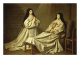 Mother Catherine Agnes Arnauld and Sister Catherine De Ste Suzanne Giclee Print by Philippe De Champaigne