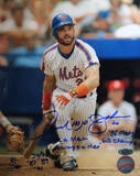 Howard Johnson After Swing w/ Once a Met, Always a Met, 86 Mets WS Champs Photographie