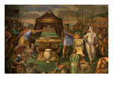 Mucius Scaevola Deliberately Burning His Hand in a Brazier before Etruscan King Porsena Giclee Print by Giuseppe Cesari