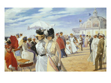 Promenade on the Dyke at Ostend Giclee Print by Carl Hermann Kuechler