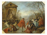 Winter, 1738 Giclee Print by Nicolas Lancret