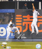 Melky Cabrera Robbing HR vs Red Sox w/ Damon Celebrating Photo