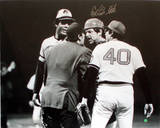 Carlton Fisk Arguing with Umpire Signed Photo