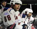 Lindros/Messier Rangers Home Bench Dual Signed Photo