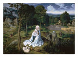 The Rest on the Flight into Egypt Giclee Print by Joachim Patenir