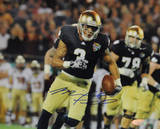 Michael Floyd Running Champs Sports Bowl Signed Horizontal Photo