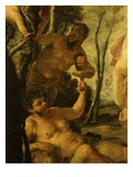 Bacchus and Satyr, from Bacchanale (Detail) Giclee Print by Jacques Blanchard