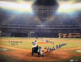 Al Downing Hank Aaron Dual Signed 715the Home Run Autographed Photo (Hand Signed Collectable) Photo