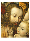 Face of Christ with Child, Christ Blessing the Children, 16th Century Giclee Print by Northern School