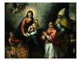 Presentation of Bernardo Clesio Bishop of Trento to Virgin Mary Giclee Print by Martino Teofilo Polacco