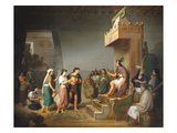 The Discovery of Pulque, 1869 Giclee Print by Jose Maria Obregon