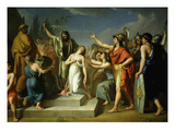 Pyrrhus 319-272 BC King of Epirus Killing Polyxena on Tomb of Father Priam King of Troy 1793 Giclee Print by Vincenzo Ferreri