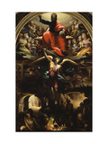 Archangel Michael Chasing Rebel Angels Giclée-tryk af Domenico Beccafumi