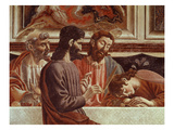 Judas, with Saint Peter, Christ Abd Saint John, from the Last Supper Giclee Print by Andrea Del Castagno
