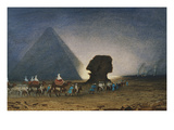The Sphinx at Giza, Her Majesty Empress Eugenie, 1826-1920 Giclee Print by Charles Theodore Frere