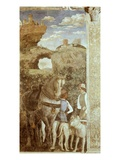Landscape with Grooms and Horse, Fresco, Camera Degli Sposi Giclee Print by Andrea Mantegna