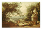Ruins of a Terrace in the Parc De Marly, C. 1780 Giclee Print by Hubert Robert