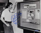 "Ron Blomberg B&W Looking at Collage ""1st AL DH 4/6/73"" Autographed Photo (Hand Signed Collectable) Photo"