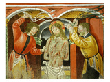 Flagellation of Christ, 15th Century Fresco, &quot;The Poor Man&#39;s Bible&quot; Giclee Print by Francesco &amp; Sperindio Cagnola