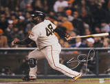 Pablo Sandoval Signed 2012 WS  After Swing Photo