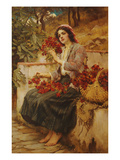 The Florist, 19th Century Giclee Print by Richard Willes Maddox