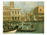 Ducal Palace and St Marks Venice Detail Giclee Print by  Canaletto
