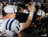 Tony Dungy SB XLI Arms Raised with Peyton Manning Photo