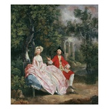 Conversation in a Park, Probably a Portrait of the Artist and His Wife, Margaret Burr, 1728-98 Giclee-trykk av Gainsborough, Thomas