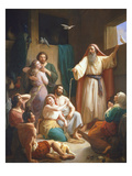 Inside Noah&#39;s Ark, 1857 Giclee Print by Joaquin oe Joaquim Ramirez