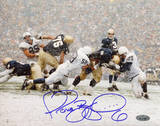 Jerome Bettis Being Tackled In Snow vs. Penn State Autographed Photo (Hand Signed Collectable) Photo