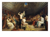 The Tepidarium, 1853 (Warm Room in Bath House) Giclee Print by Theodore Chasseriau