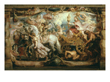 Triumph of the Church, Tapestry Cartoon on Wood, C. 1628 Giclee Print by Sir Peter Paul Rubens