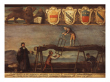 Pit Sawyers, 18th Century Giclee Print by  Venetian School