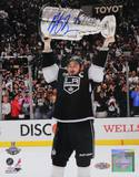 Dustin Brown Signed Holding Stanley Cup Photo Photo