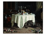 Remains of a Banquet, 1884 Giclee Print by Angelo Morbelli