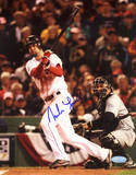 Mike Lowell 2007 World Series Swing Autographed Photo (Hand Signed Collectable) Photo