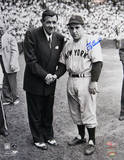 Yogi Berra Signed w/ Babe Ruth Photo