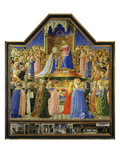The Coronation of the Virgin, C.1435, Predella of Entombment of Christ and Scenes of St Dominic Giclee Print by Fra Angelico