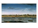 Le Port Saint-Bernard, Vu De L'Arsenal (St Bernard Port Seen from the Arsenal, France), 1752 Giclee Print by Nicolas Raguenet
