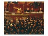 Jean Jaures,1859 - 1914, French Socialist, at the Tribunal of the Dreyfus Affair Giclée-Druck von Jean Veber