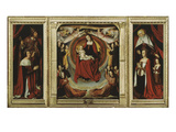Retable Des Bourbons, with Virgin and Angels with Bourbon Duke Peter II and Family Giclee Print by Jean Hey