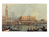 Venice, Showing Doge's Palace and Saint Mark's Square, Italy Giclee Print by  Canaletto