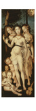 Harmony or the Three Graces (Charites, or Goddesses of Beauty) 1541-44 151X61Cm Giclee Print by Hans Baldung Grien
