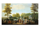 Pier in the Prince's Garden at Aranjuez Castle Giclee Print by Mariano Ramon Sanchez