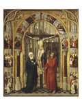 The Crucifixion from Redemption Triptych, also Attributed to Vrancke Van Der Stockt Giclee Print by Rogier van der Weyden