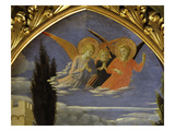 Deposition of Christ 1435 Detail of Angels Giclee Print by Fra Angelico