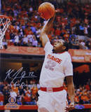 "Kris Joseph Syracuse White Jersey Dunk ""Go Orange"" Insc. Autographed Photo (H& Signed Collectable) Photographie"